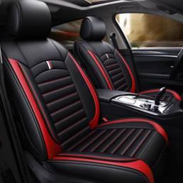 Universal Coche Tapicería del asiento delantero Cubre cojín de cuero transpirable