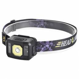 XANES® XPG + RGB + COB Headlamp 6 Gear 75 ° Ajustable USB Recargable cámping Light pesca Linterna de ciclismo
