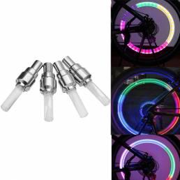 4Pcs XANES WL04 Boquilla de luz de la rueda de la bicicleta de la inducción de la vibración luz del rayo para Schrader V