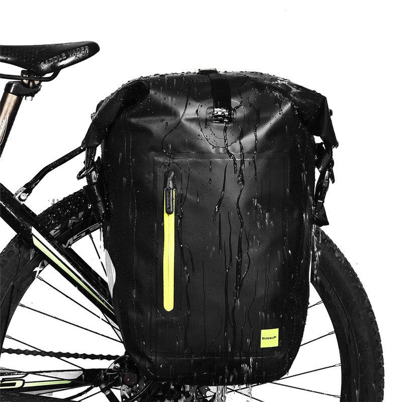 Sillín de bicicleta Rhinowalk 25L Bolsa Impermeable Portaequipajes trasero de bicicleta de carretera MTB Bolsa Asiento t
