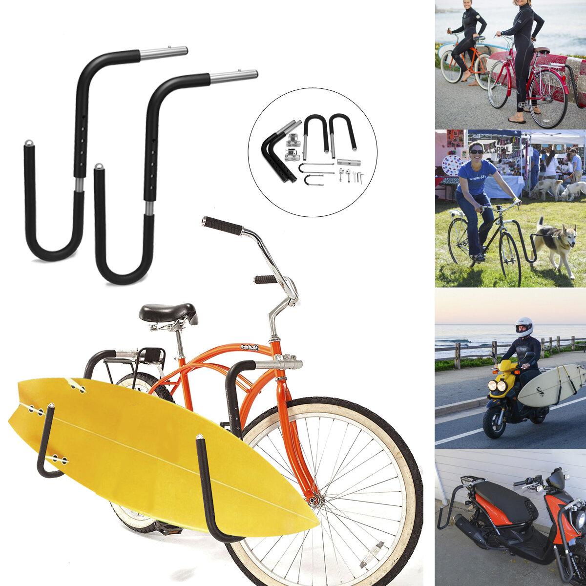 Soporte para tablas de surf para bicicletas Moto Soporte para tablas de surf Soporte lateral para bicicletas al aire lib