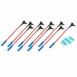 10PCS Coche Portafusibles Adaptador de fusible de doble circuito Adaptador para camión Auto