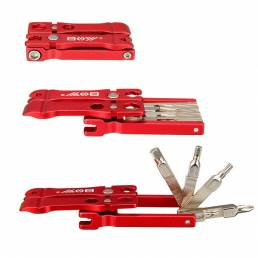 19 en 1 Multi Bicycle Repair herramienta Juego de destornilladores Llave Set con palanca de neumático T25 Spanner