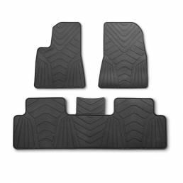 3pcs Coche Piso de goma a medida Coche Mat antideslizante para Tesla Model 3 2017-2019