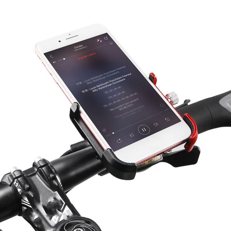 GIYO Soporte de teléfono de bicicleta de bicicleta giratoria de aleación de aluminio MTB Mountain Road Bike Soporte de c