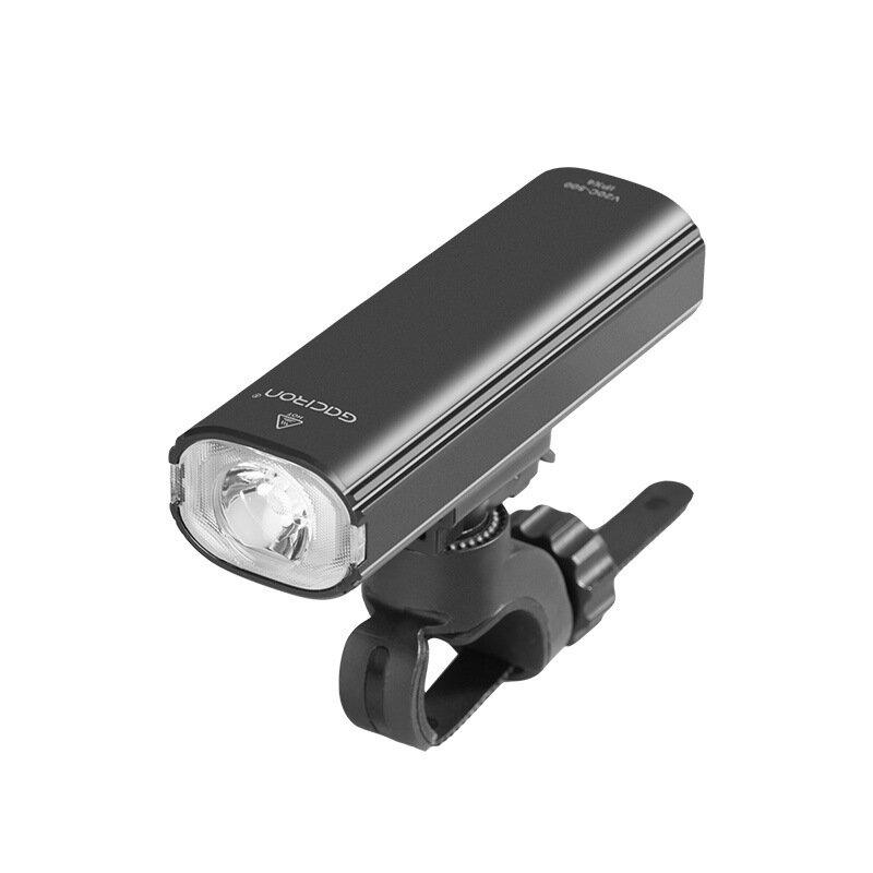 Gaciron V20C-600 600lm Faro de bicicleta 2 en 1 2500 mAh USB recargable LED Delantero y trasero Lámpara Impermeable Luz