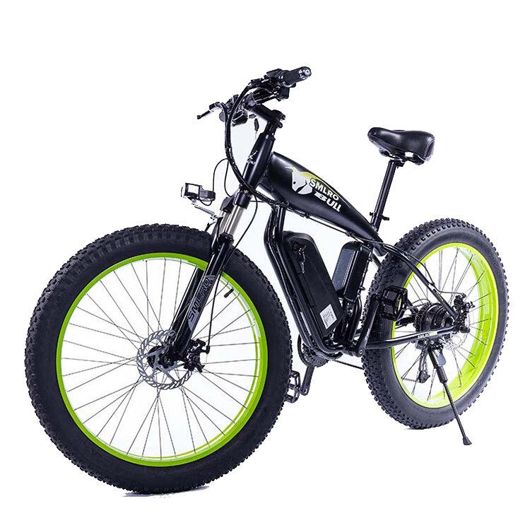 SMLRO S10 48V 13Ah 500W 26in neumático gordo ciclomotor eléctrico bicicleta 35 km / h velocidad máxima bicicleta eléctri