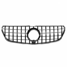 Rejilla de parrilla delantera de estilo GTR negro brillante para Mercedes-Benz Clase V W447 V250 V260 2015-2018