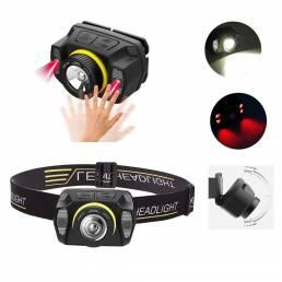 BIKIGHT 2052 1100LM USB de inducción recargable LED Faro delantero incorporado Batería Faro de bicicleta de 5 modos al a