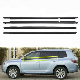 4X Weatherstrip Window Mold Trim Sill Seal Cinturón para Toyota Highlander