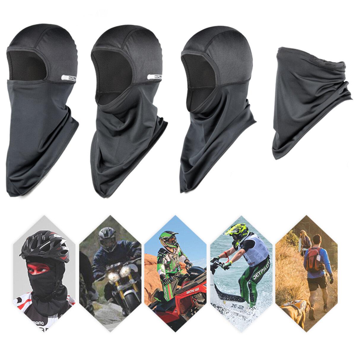Pasamontañas Cara Mascara Ciclismo Respirable Verano Sol Polvo Largo Cuello Cubierta Protección Sombrero Bufanda Pañuelo