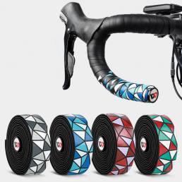 WEST BIKING 2 Unids Cintas para manillar de bicicleta PU antideslizante Impermeable Manillar Agarre Correa adhesiva para