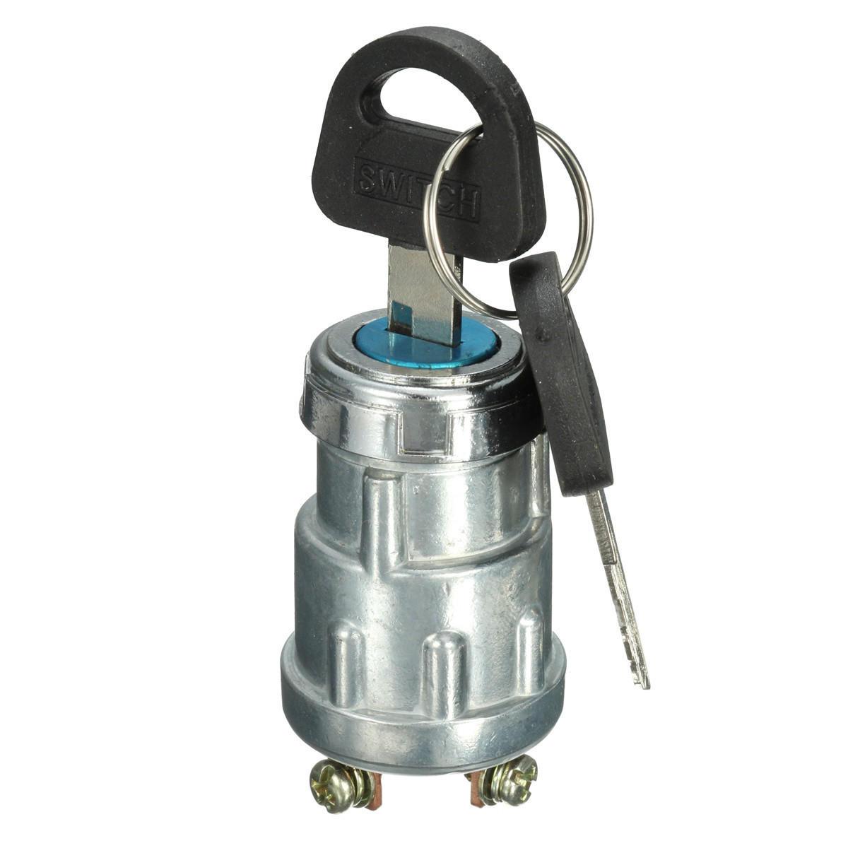 Coche barco Interruptor de llave de arranque de encendido de 12 V 4 posiciones Gasolina Diesel Motor