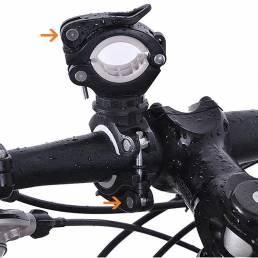 BIKIGHT 360 ° Angulo de rotación de la bicicleta linterna Mount Holder Clip Soporte de fijación de la luz multifunción S