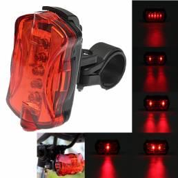 BIKIGHT 5 LED 7 modos Luz trasera de bicicleta Ciclismo Bicicleta trasera Lámpara Linterna de advertencia de seguridad n
