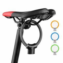 BIKIGHR Anillo de bicicleta antirrobo cerradura Bicicleta portátil Mini seguridad cerradura Raqueta cerradura Bicicleta