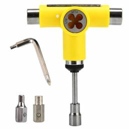 T Tipo Ajuste de scooter multifuncional herramienta Allen universal Llave Destornillador Papel de lija Enchufe Llave Rep