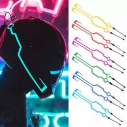 2 uds Impermeable luz para casco de ciclismo señal de conducción EL tira intermitente LED Kit duradero barra DIY luz de