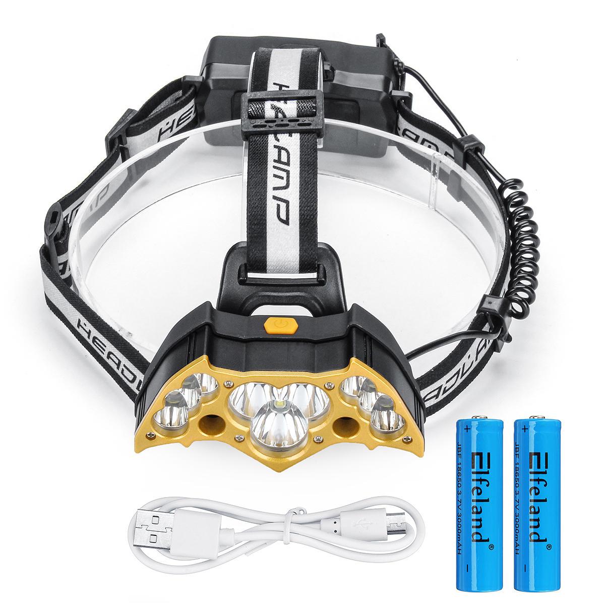 Elfeland5000LMfarocon18650Baterías USB recargable cámping Lámpara caza linterna de ciclo