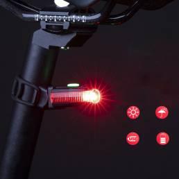 ROCKBROS BK330 100lm LED Luz trasera de bicicleta USB recargable 3 modos 180 ° ajustable Impermeable Luz de bicicleta al