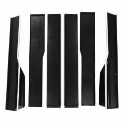 2.2M / 86.6inch Black Modified Three-section Side Faldas Extension Rocker Panel White Line