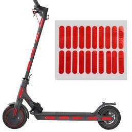 BIKIGHT Scooter Pegatina reflectante Scooter eléctrico Decoración corporal fluorescente Advertencia Accesorio de segurid