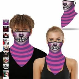 BIKIGHT Pañuelo multifuncional de cara de Halloween UV Protección a prueba de viento An-dust Cuello Polaina para Mujer H