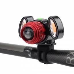 XANES 800LM T6 luz de advertencia de bicicleta Zoomable IPX6 Impermeable luz delantera de bicicleta 4 modos de carga USB