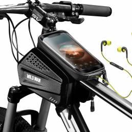 WILD MAN EVA + PU Impermeable Ciclismo Bolsa Bicicleta Bolsa Viga delantera de bicicleta Bolsa