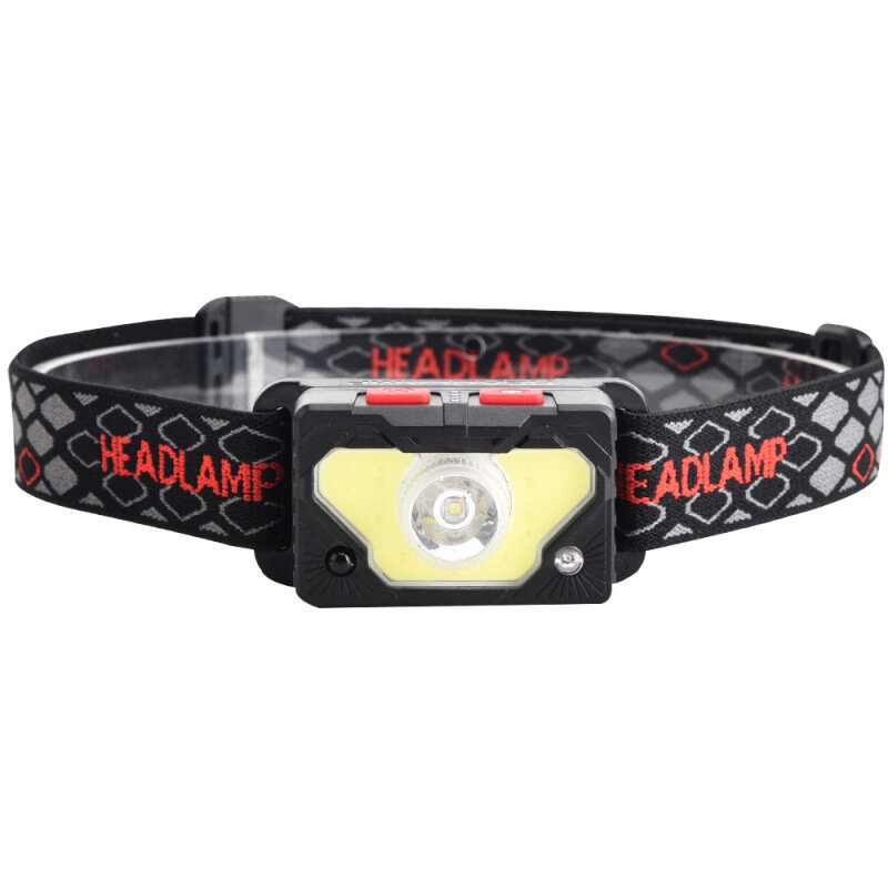 XANES® XPG + RGB + COB Linterna frontal 10 m Inducción 6 engranajes 75 ° Ajustable USB recargable cámping Luz pesca Lint