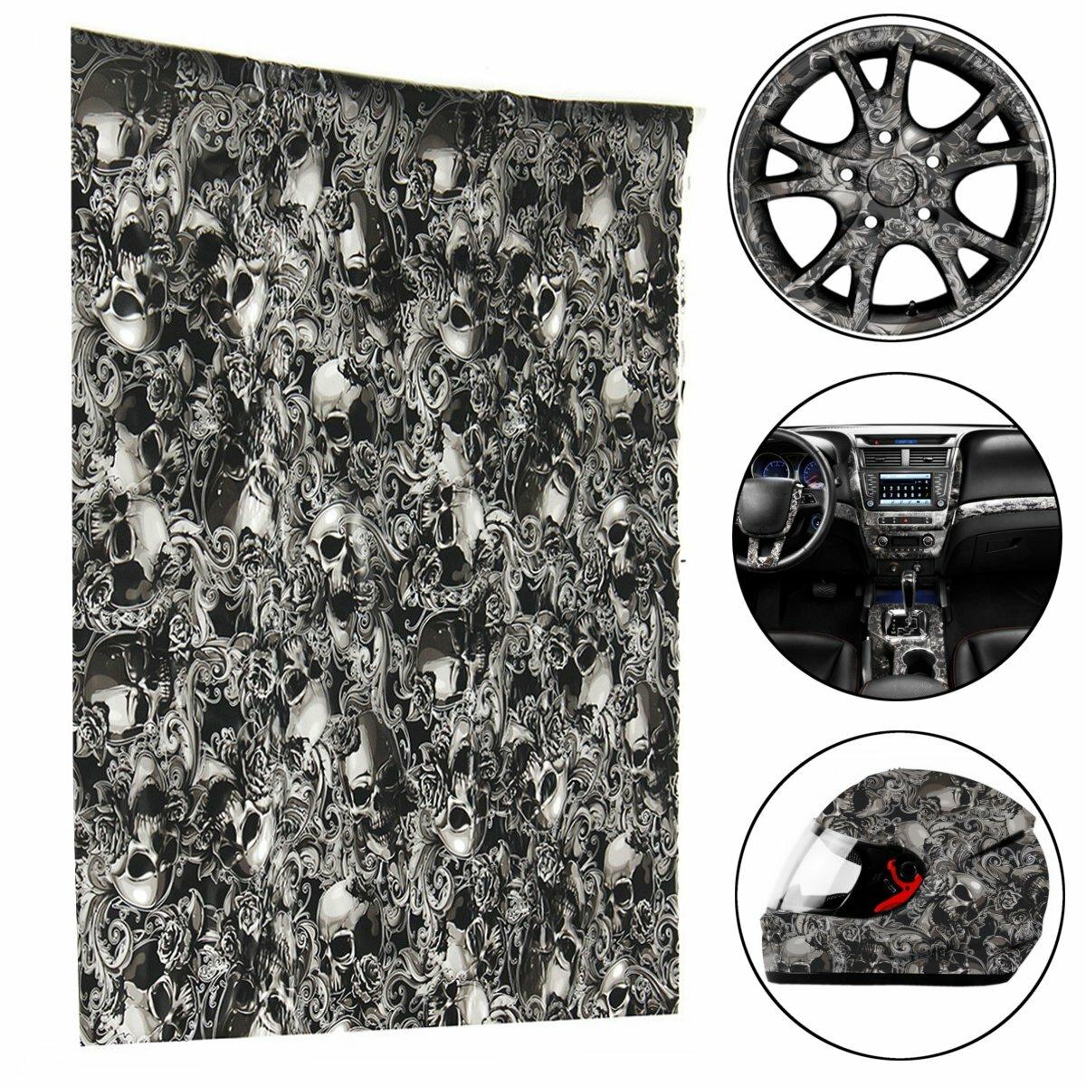50x100cm PVA Película hidrográfica Película de impresión de transferencia de agua Pegatinas de estilo de flor hidráulica