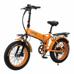 Bicicleta eléctrica de nieve JINCHMA R6 20in 10Ah 48V 350W bicicleta eléctrica plegable 40 km / h velocidad máxima 80 km