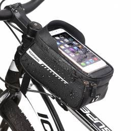 RZAHUAHU Bolsa de teléfono con marco frontal de bicicleta a prueba de lluvia