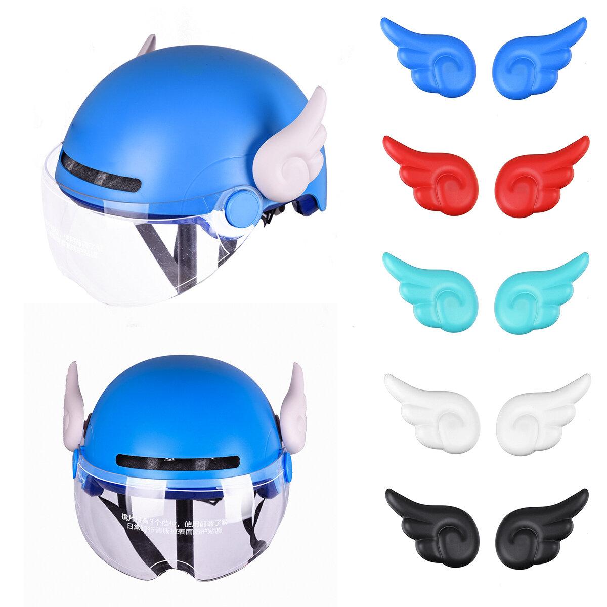 1 par MTB Bicicleta Motocicletas Accesorios de adorno de casco Ventosas Alas pequeñas Decoraciones Casco No incluido No