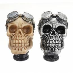 Universal Coche Cráneo Cabeza Transmisión Palanca de cambio Perilla de cambio Palanca
