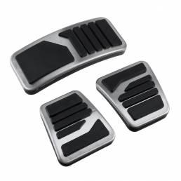 3Pcs Manual MT Pedales de freno de embrague Acelerador de metal de acero inoxidable Universal para Mitsubishi