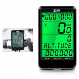 SUNDING 577C Cycling Computer Cronómetro inalámbrico MTB Bike Cycling Odometer Velocímetro de bicicleta con luz de fondo
