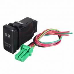 ABS 12v 3amp empuja el interruptor rojo LED barra ligera para toyota fortuner hilux tacoma 2005-2011