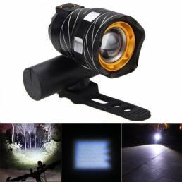 XANES 800LM T6 Luz de Bicicleta Tres Modos Zoom Gratis Noche Riding USB Recargable Impermeable