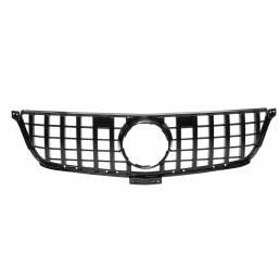 GTR Diamond Style Glossy Black Front Grill Grille para Mercedes Benz W166 ML ML300 ML320 ML350 ML400 2012-2015