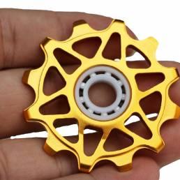 Desviador trasero de la bicicleta de la bici de Qikour Cerámico Polea de la guía 12T Rueda de la guía del diente positiv