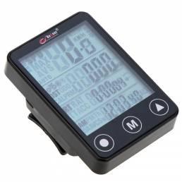 BogeerYT-30824funcionesBotóninalámbrico para computadora de bicicleta LCD Retroiluminación Impermeable Velocímetro