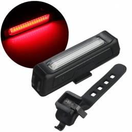 BIKIGHT 6-Modos 100LM COB Bicicleta Luz roja de advertencia Ciclismo nocturno Bicicleta delantera trasera USB recargable