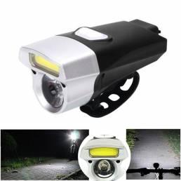 XANES DL08 650LM COB / T6 Cuentas 15 modos de luz de bicicleta Impermeable Carga USB de luces delanteras de bicicleta