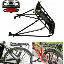 Bicicleta Carga Rack Aleación de aluminio Asiento trasero Soporte para bicicleta Soporte Equipaje Proteger Pannier Carga