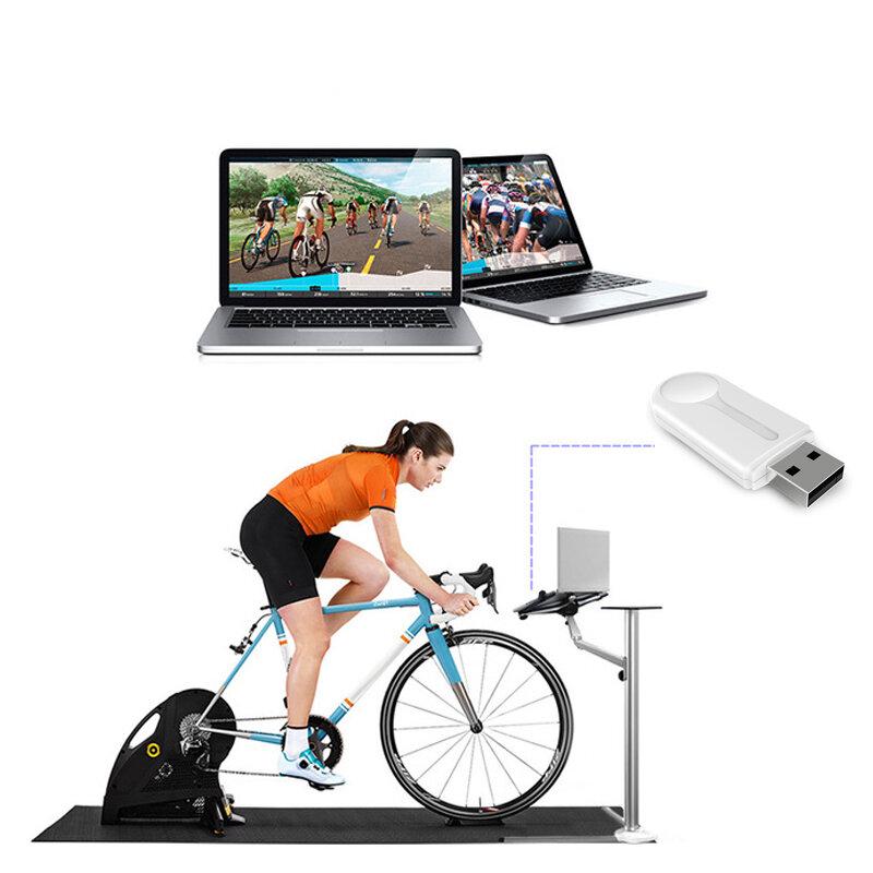 ANT Sensor Adaptador Bkool Tacx Zwift USB Ciclismo Deporte Inalámbrico Receptor Conexión de computadora para bicicleta