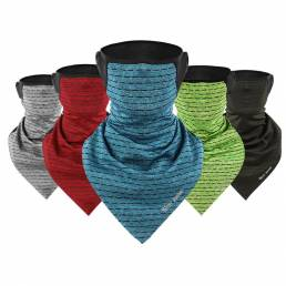 WEST BIKING Bufanda triangular de seda de hielo multifuncional a prueba de viento Anti-UV a prueba de polvo Cuello Prote