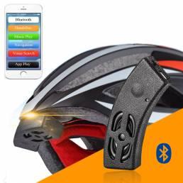 rockbros inteligentes montar de audio Bluetooth del casco de campana de la bicicleta altavoz manos libres llamada telefó