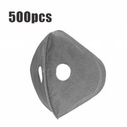 500Pcs Ciclismo de 5 capas Mascara Reemplazo del filtro Anti Polvo PM2.5 Filtro de carbón activado para bicicleta Cara d