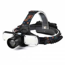 XANES® 4-Modos 3000LM T6 + Linterna frontal LED con zoom Carga USB al aire libre Luz de trabajo ultra brillante pesca Li